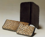 Leopard Print Hair-On Calf Wallet/Checkbook & Credit Card Wallet