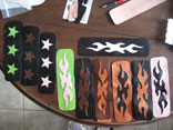 Assorted Handmade Lizard Star Inlay & Flame Inlay/Overlay Wristcuffs