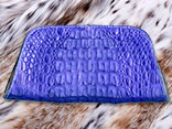 "Handsewn Royal Blue Caiman Alligator Clutch Purse Magnetic Closure (10"" x 5"" x 3"")"